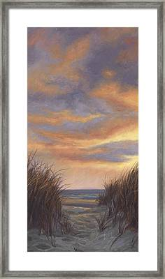 Sunset By The Beach Framed Print by Lucie Bilodeau