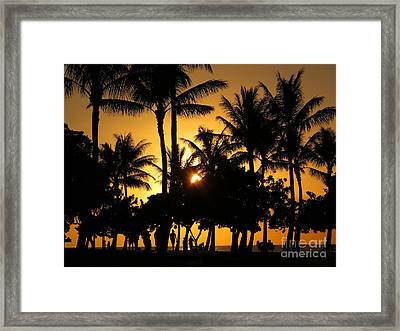Sunset By The Beach Framed Print by Ranjini Kandasamy