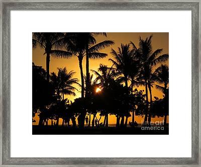 Sunset By The Beach Framed Print