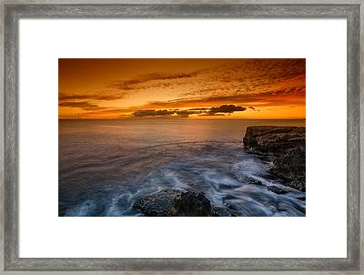 Sunset By The Cliff Framed Print