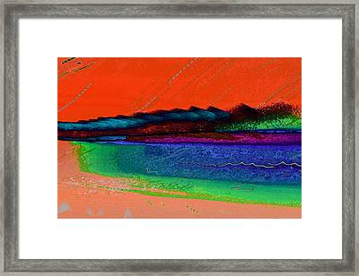 Sunset By The Lake Framed Print by David Pantuso