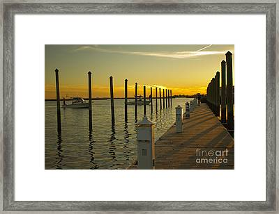 Framed Print featuring the photograph Sunset By The Marina One by Jose Oquendo