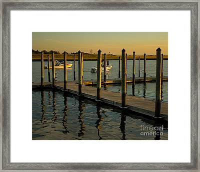 Framed Print featuring the photograph Sunset By The Marina Two by Jose Oquendo