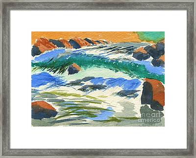 Sunset By The River Framed Print by Beverly Claire Kaiya
