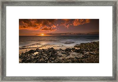 Sunset By The Sea Framed Print