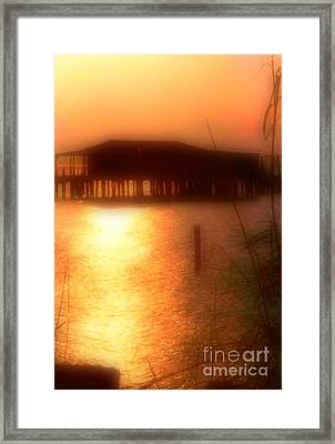 Sunset Camp On Lake Pontchartrain In New Orleans Louisiana Framed Print by Michael Hoard
