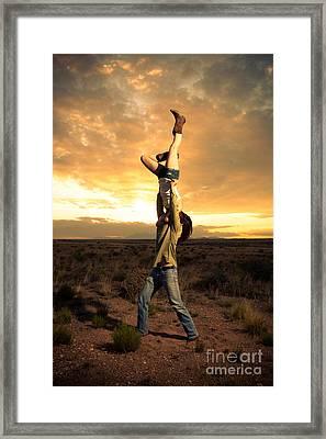Sunset Candlestick Framed Print