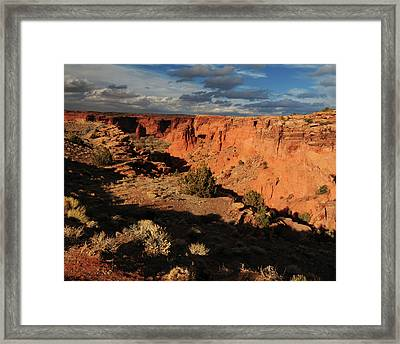 Sunset, Canyon De Chelly, Arizona, Usa Framed Print by Michel Hersen