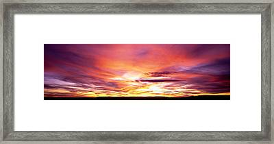 Sunset, Canyon De Chelly, Arizona, Usa Framed Print by Panoramic Images