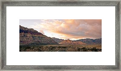 Sunset Canyon Drive Framed Print by Aron Kearney