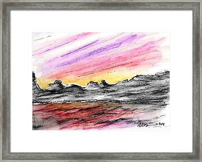 Sunset Canyon Framed Print by Jason Nicholas
