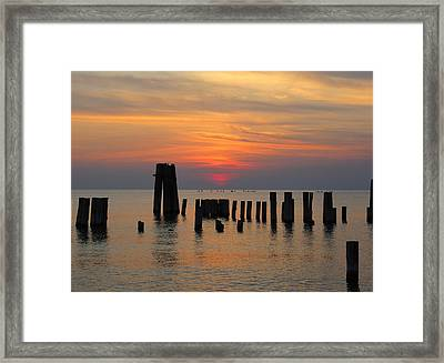 Sunset Cape Charles Framed Print by Richard Reeve
