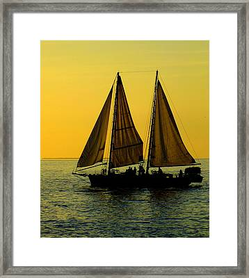 Sunset Celebration Framed Print by Karen Wiles