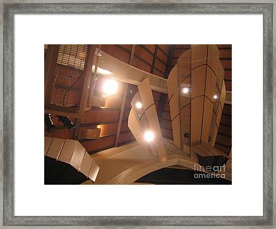 Sunset Center Ceiling Framed Print