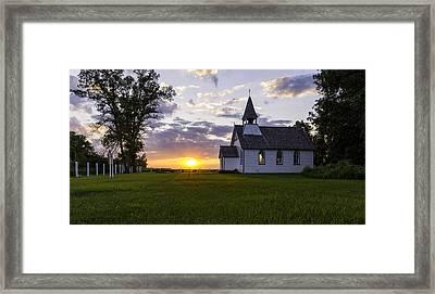 Sunset Church Framed Print