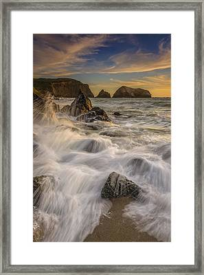 Sunset Churning Framed Print