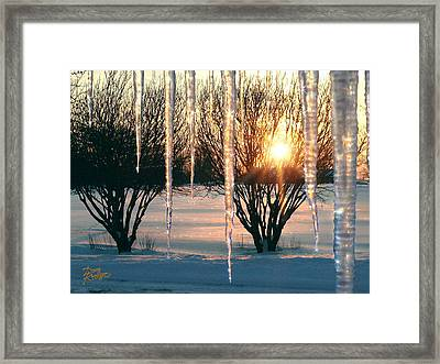Framed Print featuring the photograph Sunset 'cicles by Doug Kreuger