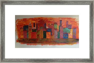 Sunset City Framed Print by Judi Goodwin