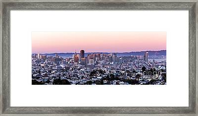 Sunset Cityscape Framed Print