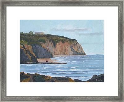 Sunset Cliffs Ca Framed Print by Raymond Kaler