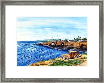 Sunset Cliffs Ocean Beach Framed Print by John YATO
