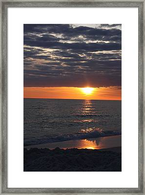 Sunset Clouds Framed Print by Christiane Schulze Art And Photography