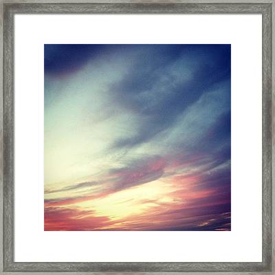 Sunset Clouds Framed Print by Christy Beckwith