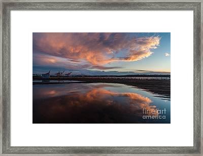 Sunset Clouds Flourish Framed Print