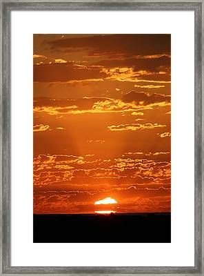 Framed Print featuring the photograph Sunset Clouds by Henry Kowalski
