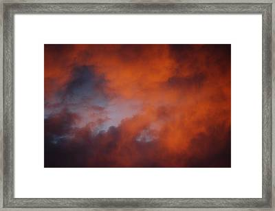 Sunset Clouds I Framed Print by Linda Brody
