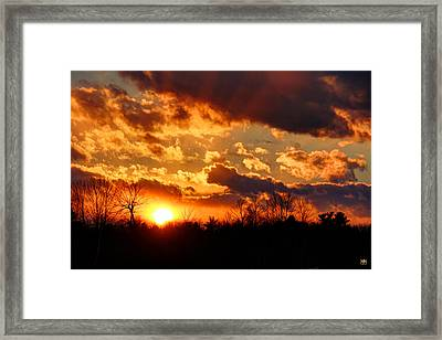 Sunset Clouds Framed Print