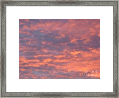 Sunset Clouds Framed Print by Mark Bowden