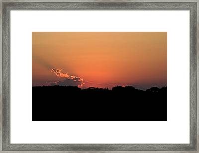 Sunset Clouds Framed Print by Mark Russell