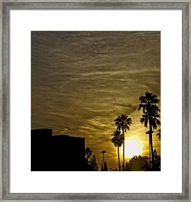 Sunset Clouds Framed Print by Marquis Crumpton