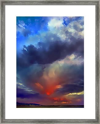 Sunset Clouds Over Albuquerque Framed Print by Wernher Krutein