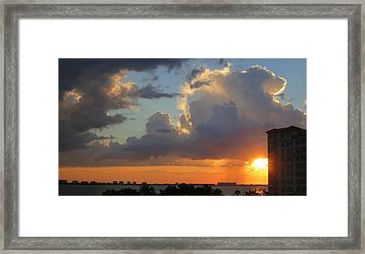 Sunset Shower Sarasota Framed Print