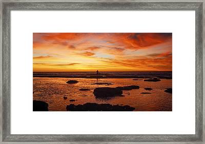 Sunset Coast Framed Print by Niel Morley