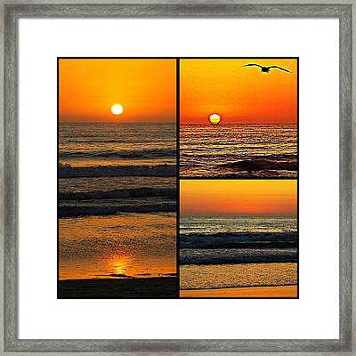 Sunset Collage Framed Print by Sharon Soberon