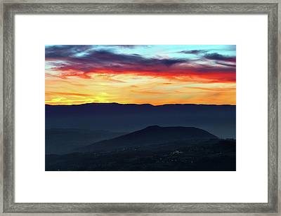 Sunset Colors From The Alps Framed Print by Babak Tafreshi