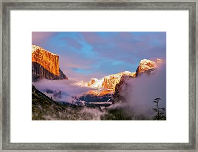 Sunset Colors The Classic Tunnel-view Framed Print