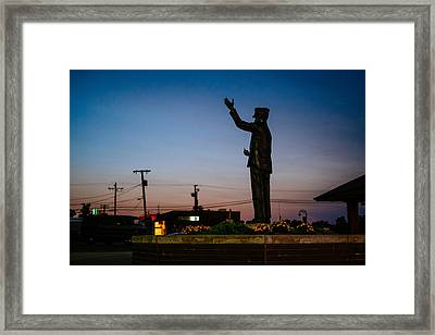 Sunset Conductor Framed Print