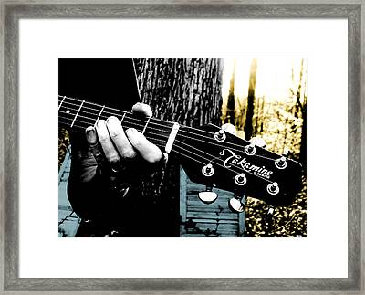 Sunset Country Pickin Framed Print by Kristie  Bonnewell