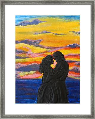 Sunset Couple Framed Print