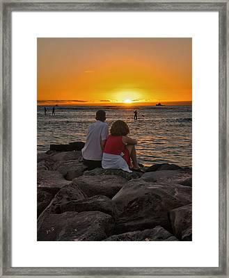 Sunset Moment Framed Print by John Swartz