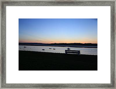 Sunset Courtmacsherry Co Cork Framed Print by Maeve O Connell