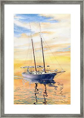 Sunset Cruise Framed Print by Melly Terpening