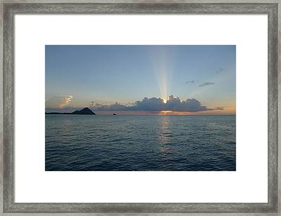 Sunset Cruise - St. Lucia 2 Framed Print by Nora Boghossian