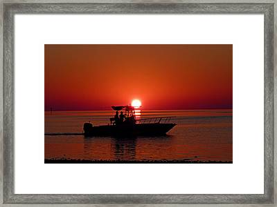 Sunset Cruise Framed Print by Susan Duda