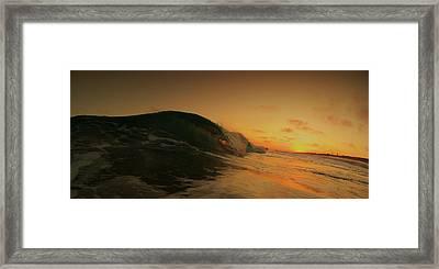 Sunset Curl Framed Print by Daniel Rainey