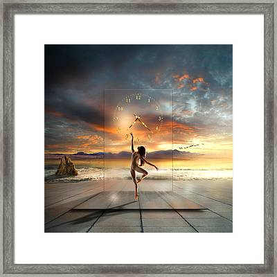 Sunset Dancing Framed Print